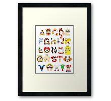 Super Mario Alphabet Framed Print