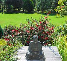 Garden Buddha by Julielorraine