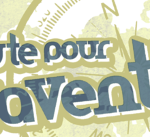 en route pour l'aventure t-shirt Sticker