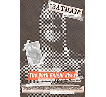 The Dark Knight Rises Tabloid Photographic Print