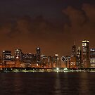Chicago Skyline at Night by Anthony Roma