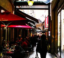 cafes in the arcade by Steve Scully
