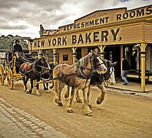 Coach passing New York Bakery - Main Street, Sovereign Hill by TonyCrehan