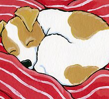 Tired Little Pup - Card Version by Lisa Marie Robinson