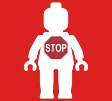 Minifig with Stop Sign by Customize My Minifig by ChilleeW