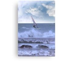 windsurfer windsurfing in a storm Canvas Print