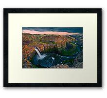 Palouse Falls Sunset Framed Print