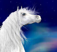 Star Gazer .. White Stallion by LoneAngel