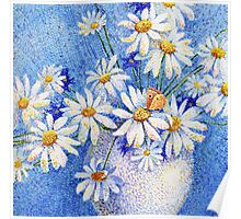 Camomile bouquet Poster