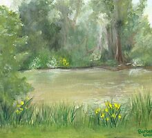 Pond View by Barbara Weir