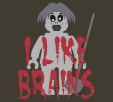"Zombie Minifig ""I LIKE BRAINS"" by Customize My Minifig by ChilleeW"