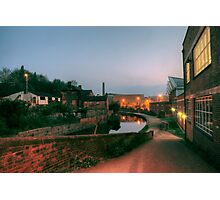 Canal and Tesco from Castle Street, Kidderminster Photographic Print