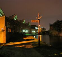 Canal and Tesco, Kidderminster by Alex Drozd