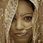Varanasi Bride in Sepia by Valerie Rosen