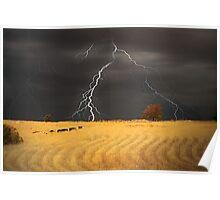 Summer Storm - Mine Road, Kanmantoo, South Australia Poster
