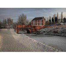 Lime Kiln Bridge in snow Photographic Print