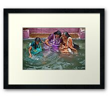 Many Smiles Framed Print