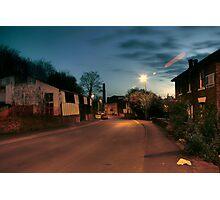 Park Lane by Castle Road, Kidderminster Photographic Print