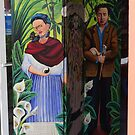 Welcome By Frida Kalho, La Catrina And Diego Rivera - Bienvenidos!  by Bernhard Matejka