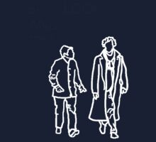 Sherlock and John-white outline by nataratatata