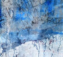 Blue paint with scratched writing by seeker19