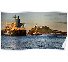 NSS GRANDEUR CARGO SHIP - NEWCASTLE HARBOUR NSW AUSTRALIA Poster
