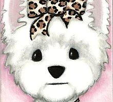 Leopard Bow by Shelly  Mundel