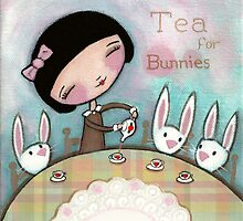 Tea For Bunnies by Shelly  Mundel
