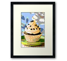 Chocolate Cupcakes with Vanilla Frosting Framed Print