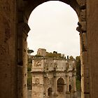 Constantine's Arch from the Colosseum  by Michelle Lia