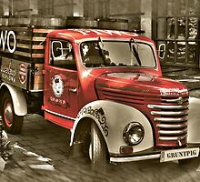 old red truck , krakow by gruntpig