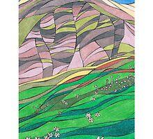 Spring Flowers by Capel Fell, Moffat Hills, Dumfriesshire by PennyArt