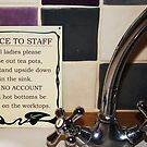 Notice to Staff by Astrid Ewing Photography