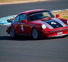 Red Porsche 911 Eastern Creek HSRCA Meet  by Tom Row