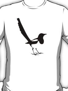 Ekster outline in black magpie T-Shirt
