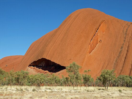 Uluru Alternative Perspective Too by Nigel Byrne