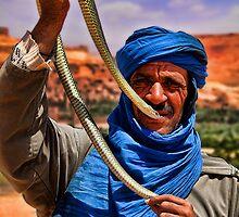 Morocco. Snake charmer. Portrait. by vadim19