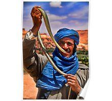 Morocco. Snake charmer. Portrait. Poster