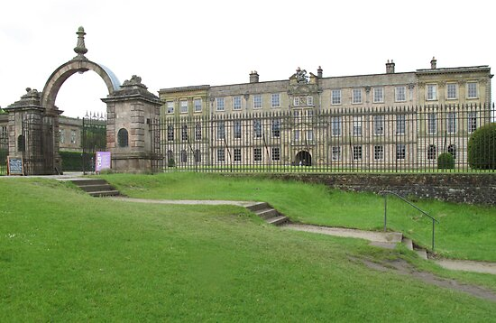 Gateway at the House of Lyme, Lyme Park, Cheshire by TedT