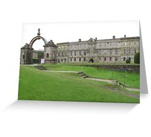 Gateway at the House of Lyme, Lyme Park, Cheshire Greeting Card