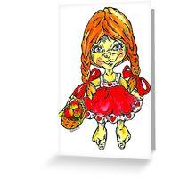 strawberry fairy Mary Greeting Card