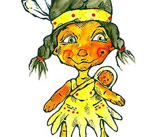 two little indian by Renata Lombard
