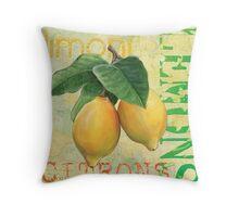 Froyo Lemons Throw Pillow