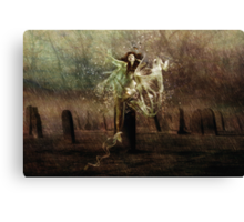 Tied To The Stone!!! Canvas Print