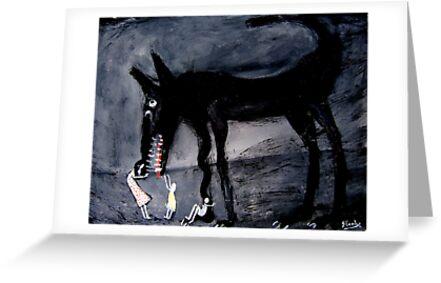 children with the black dog by glennbrady