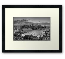 Etchings - Sydney A Study In Black and White - The HDR Experience Framed Print