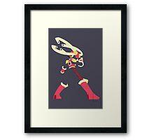 Roll Cross Framed Print