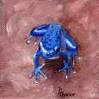 Blue Froggy by Brenda Thour