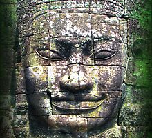face at angkor thom by gruntpig
