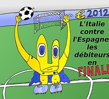 caricature du grand finale de l'euro 2012 entre italie et l'espagne by Binary-Options